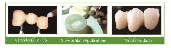 Dental Ceramic Powder Dentine Glaze Transparent