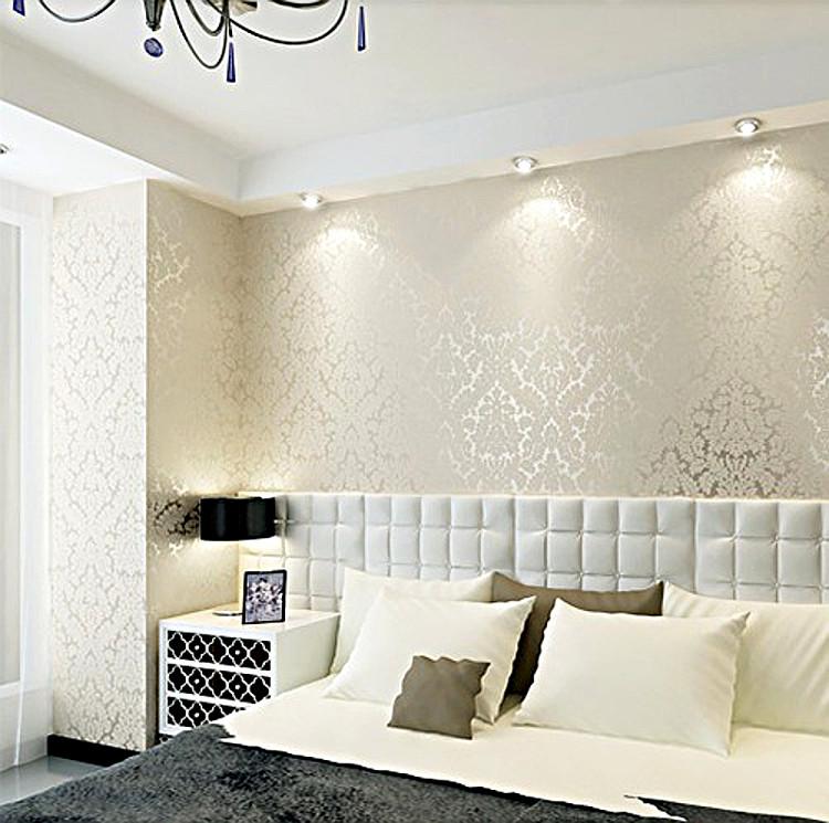 Wallpaper Home Decor Modern: Non Woven Modern Wallpaper Glitter Wallcovering Metallic