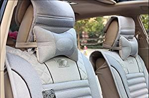 Car neck pillow car cushions car interior products with a pillow seat,Rice 2pcs/set
