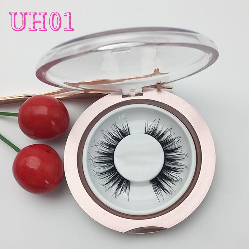 b61a6e628fc Natural false eyelashes wispy style 100% human hair lash wholesale custom  packaging UH01