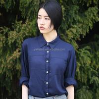 thin women chiffon office shirt blouse fabric