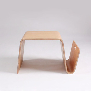 Tl166 Whole Plywood Bent Wood Natural Color Side Table