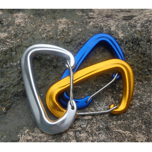Improved Durable Spring-loaded Gate Aluminum D Ring Carabiners Clips Hook