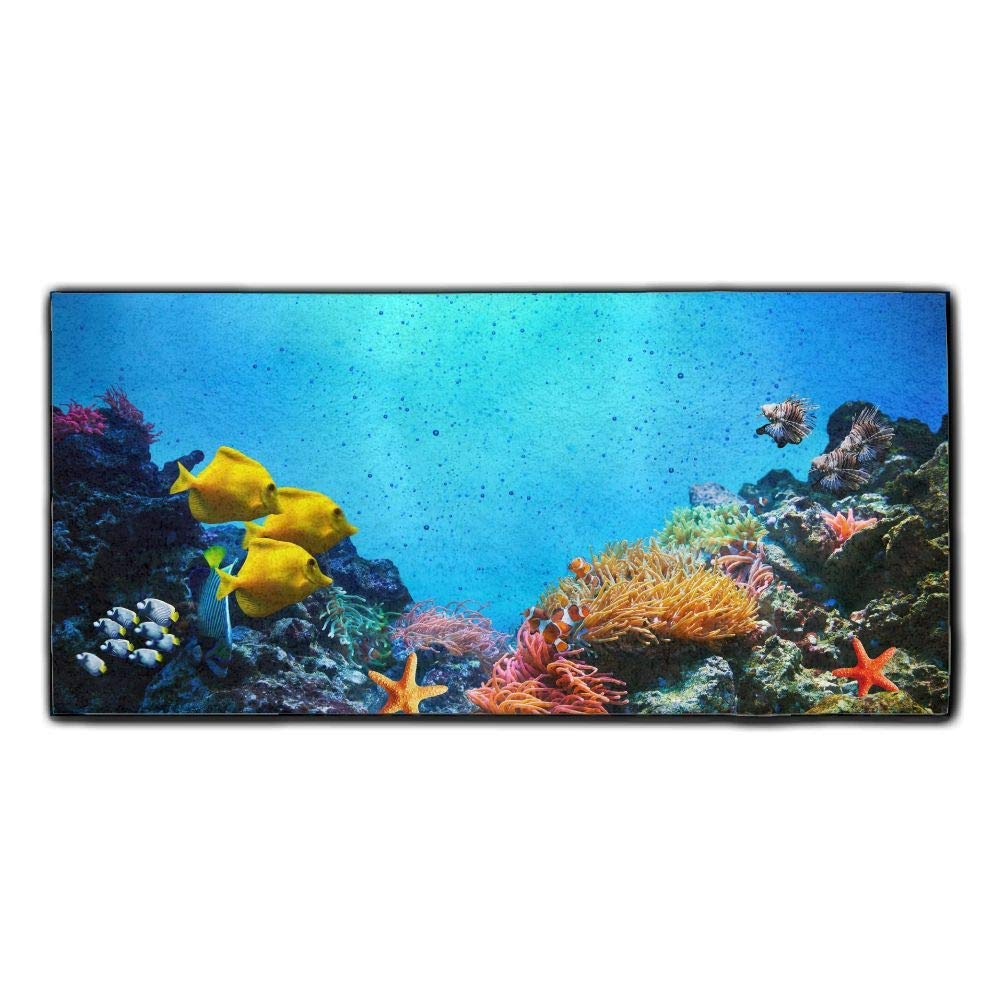 Baerg Microfiber Super Absorbent Face Towel Beautiful Fishes Hair Care Towel Gym Spa Towel