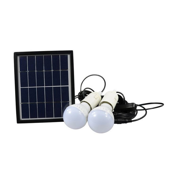 2 LED bulbs Solar Camping Light With Built-in 3.7V/2200mAh Lithium battery