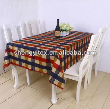 European Polyester Striped Table Cloth/ Western Table Cover