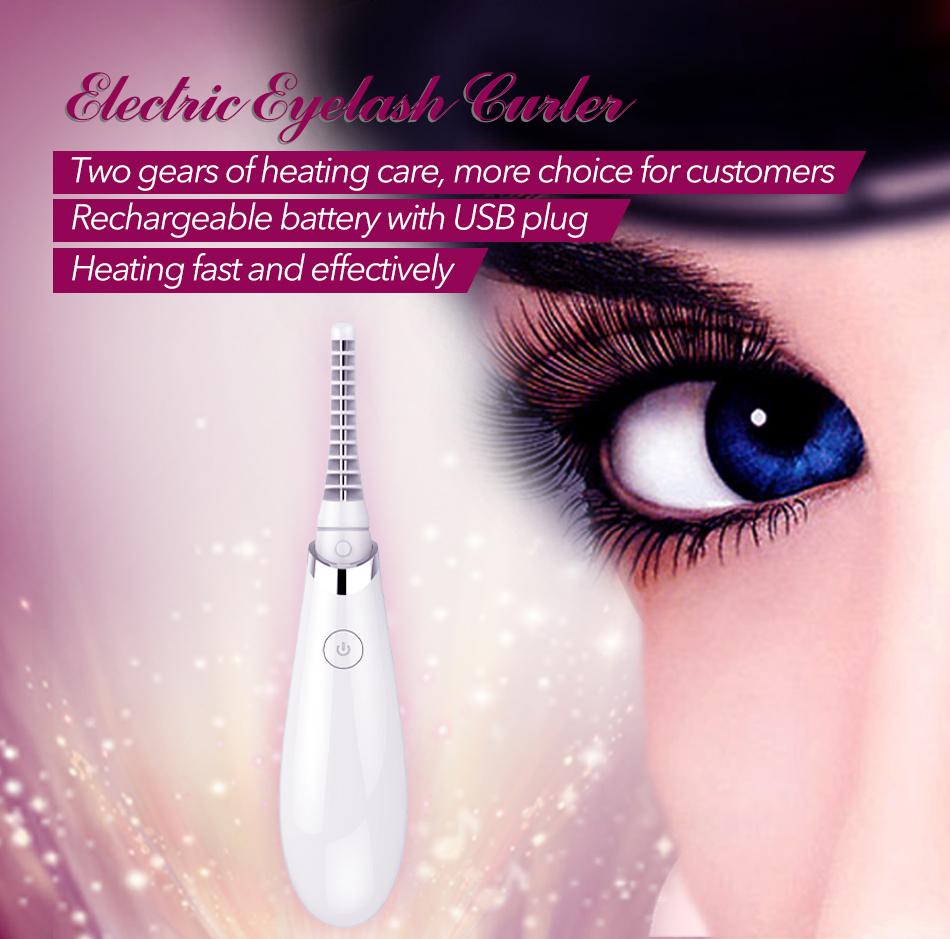 Professionelle Versorgung Lady Christmas Gift wiederaufladbare Make-up-Tools elektrische Wimpern Werkzeug