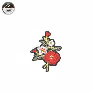 Factory Custom Style Embroidery Patch, Flower Embroidery Patch#C10018
