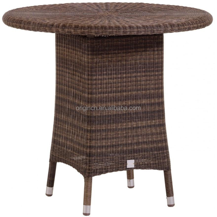 Cafe Shop Restaurant Outdoor Use Half Moon Rattan Chair And Table ...
