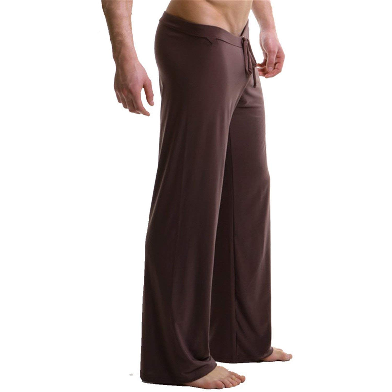 Mens Lounge Pants Yoga Gym Sports Soft Pyjama Bottoms Sleepwear Loose Trousers