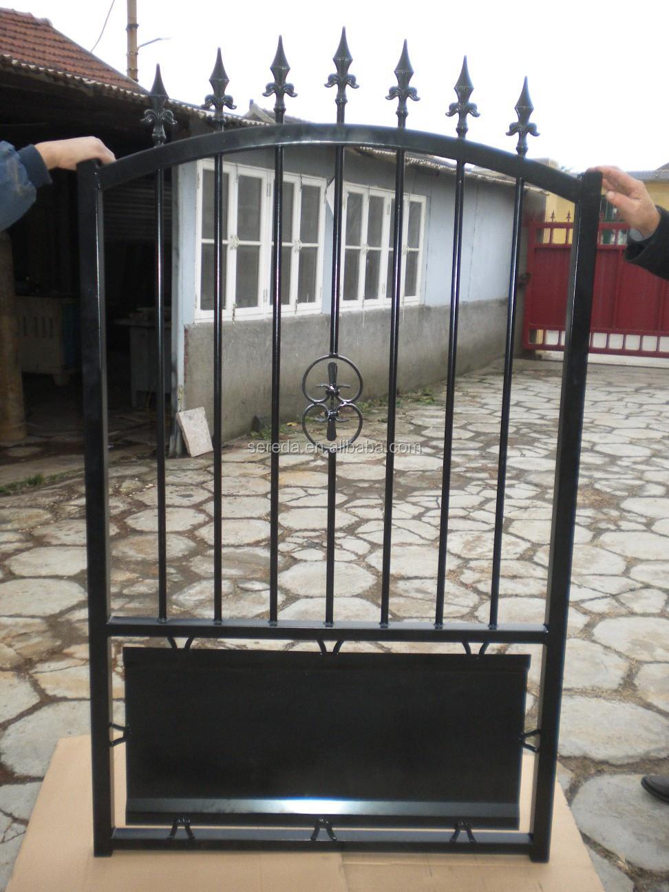 Voor france markt zwarte schilderij mooie ijzeren tuinhek - Puertas de hierro para jardin ...