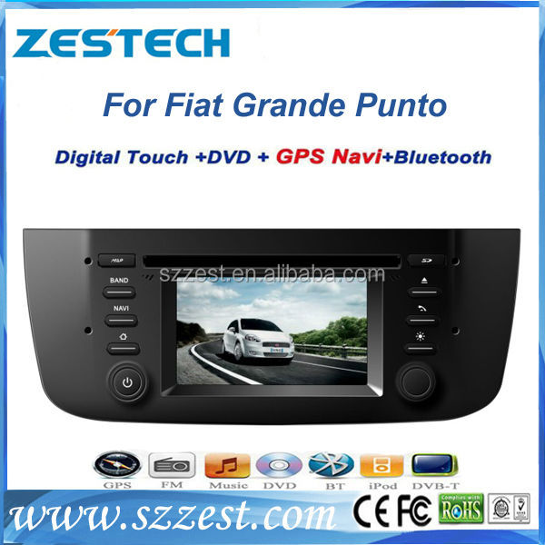 ZESTECH 2 din car dvd with android can-bus car gps for Fiat Grande Punto car gps navigator mp3 player digital TV