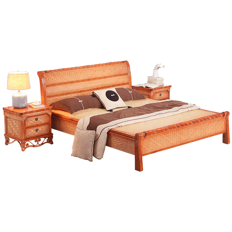 Modern Design Home Furniture Rattan Cane Wood Hand Woven