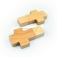 Cheap Wooden Cross USB Flash Drive with Real Capacity