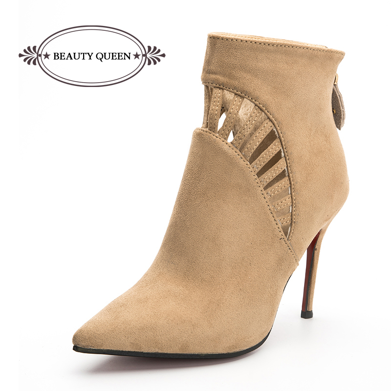 uk availability d600a a6d01 Buy Women Sexy Pointed Toe Suede Red Bottom High Stiletto ...