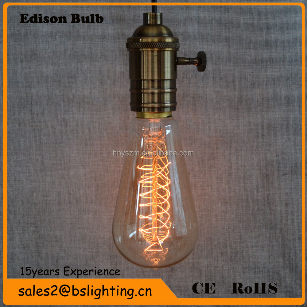 Buy B22 St64 110v 220v 40w Vintage Edison Style Filament: 2015 Most Popular Edison Bulbs E27/b22 25w40w/60w