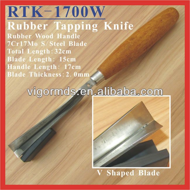 (RTK-1700W) High Quality 7Cr17Mo Steel Rubber Tapping Knife