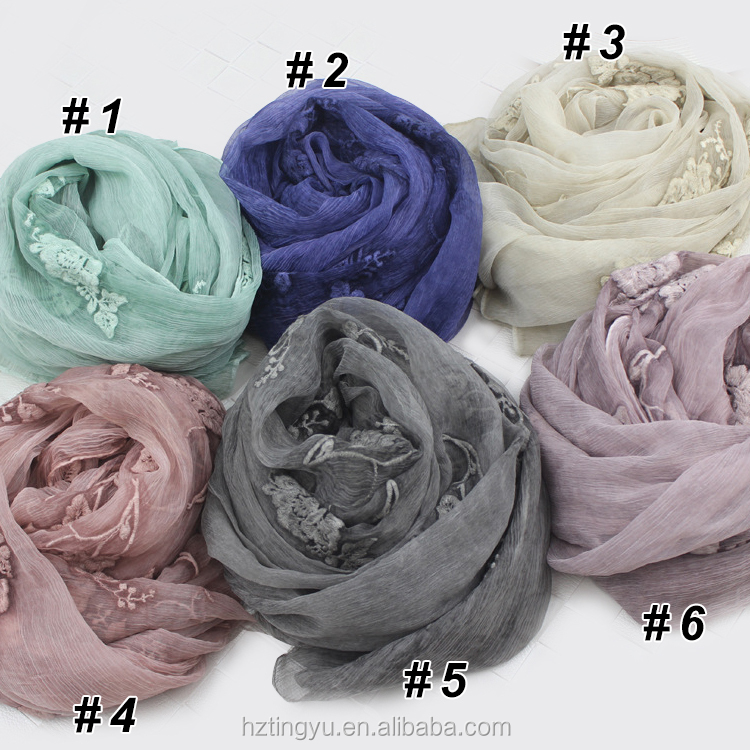 New deisgn muslim Women like can be cotton hijab embroidered <strong>scarf</strong>