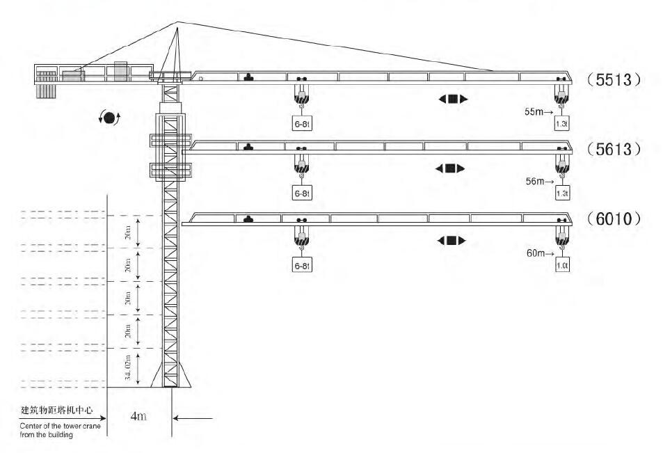 8t top kit self erect frequency used tower crane for sale in south east asia