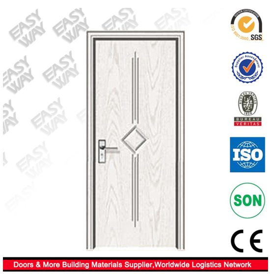 2016 Hollow Core PVC MDF Wooden interior bedroom cheap french doors