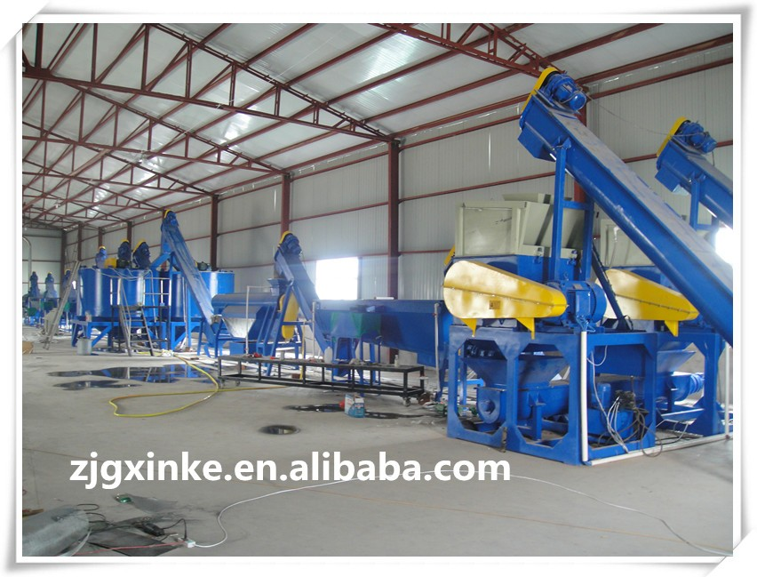 High quality used pet hdpe bottle flakes washing recycling line