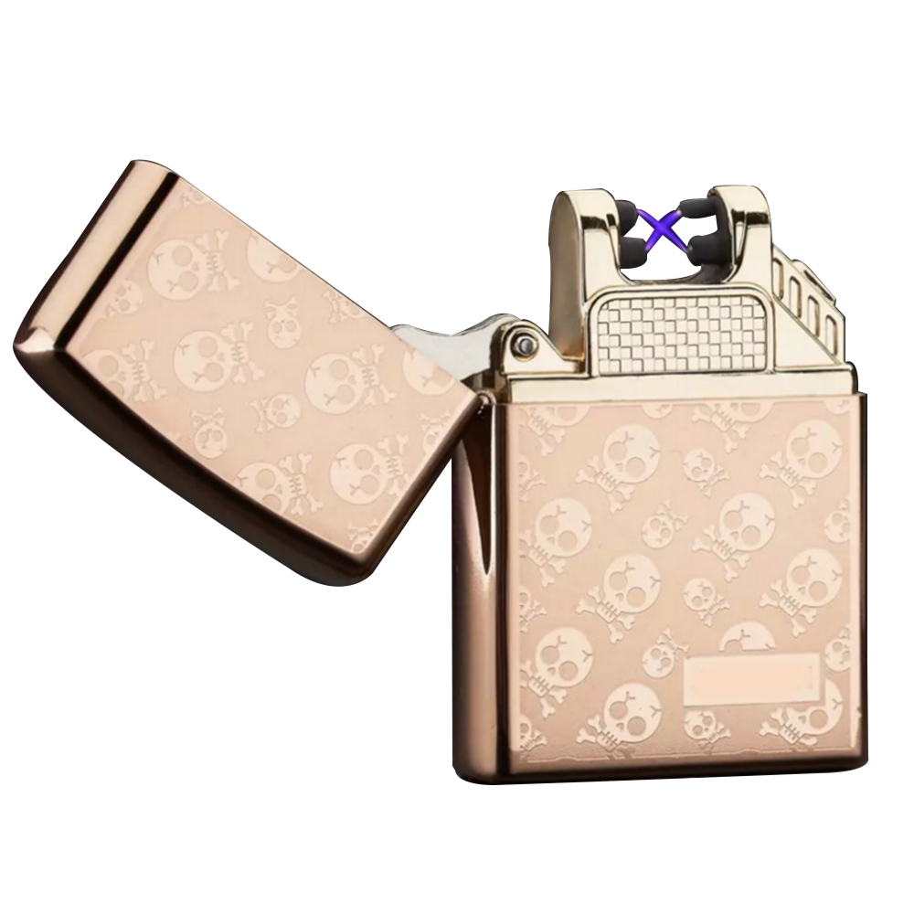 WB 212DA O smoking accessories customized logo usb cable rechargeable Cross double arc plasma lighter
