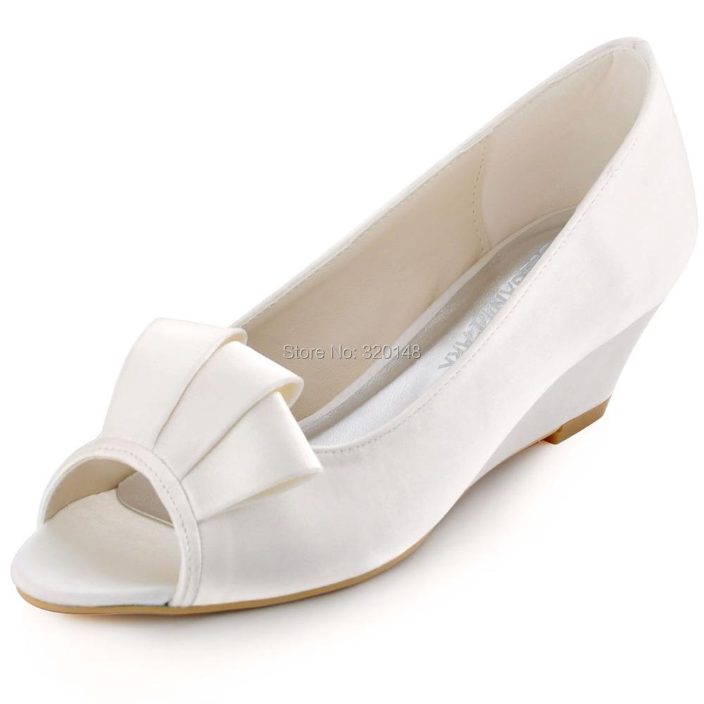 White Wedge Shoe China