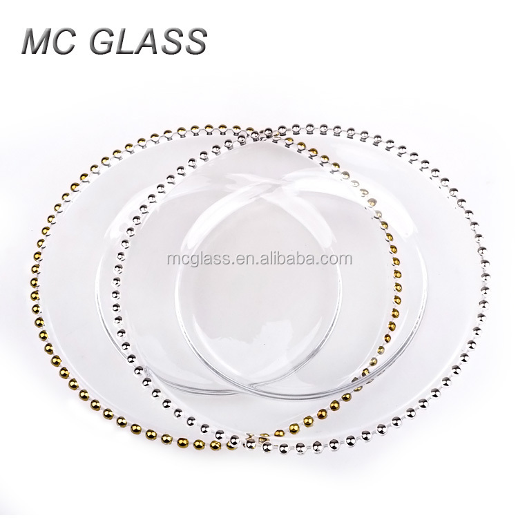 Manufacturers Hotel Decorative Silver Glass Beaded Charger Plate for Wedding and Engagement  sc 1 st  Alibaba & Manufacturers Hotel Decorative Silver Glass Beaded Charger Plate For ...
