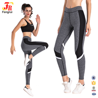 Wholesale fitness clothing sexy women compression skin running tights yoga pants high waist custom yoga leggings