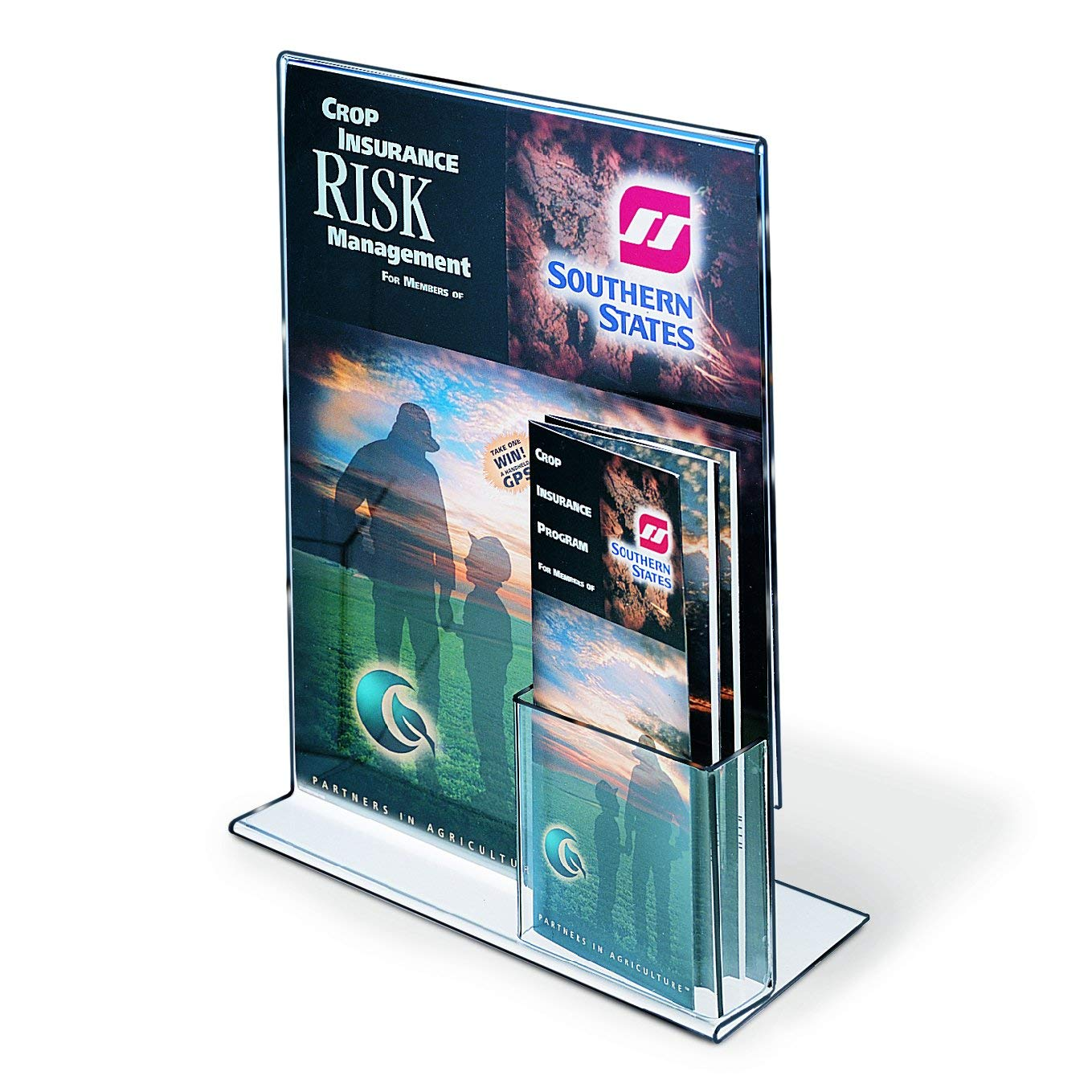 "Upright Sign/Brochure Holder Combo, 11"" x 14"", sold in case pack of 10"