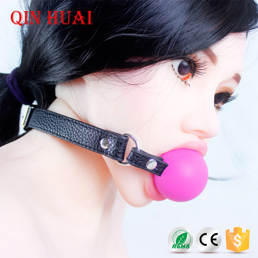 Sex Toy Bondage Gear Soft Open Mouth Ball Gag For Couple