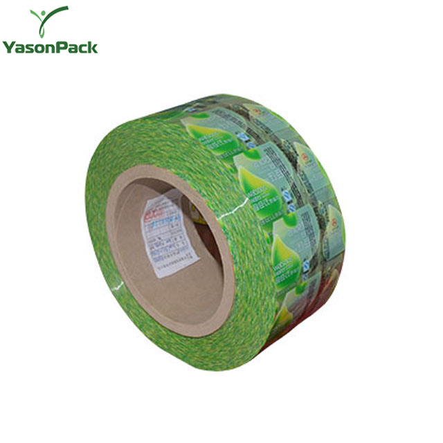 YASON pvc shrink sleeve label pvc shrink plastic film labels pvc shrink bottle water label