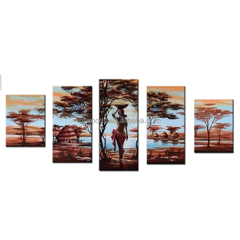 Africa Fsc Beautiful African Woman Canvas Painting Wooden Wall Art ...