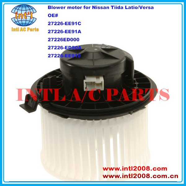 27226-EE91C 27226-EE91A 27226EE91C 27226EE91A 27226ED000 27226-ED50A HVAC Heater Blower Motor for Nissan Tiida Latio/Versa