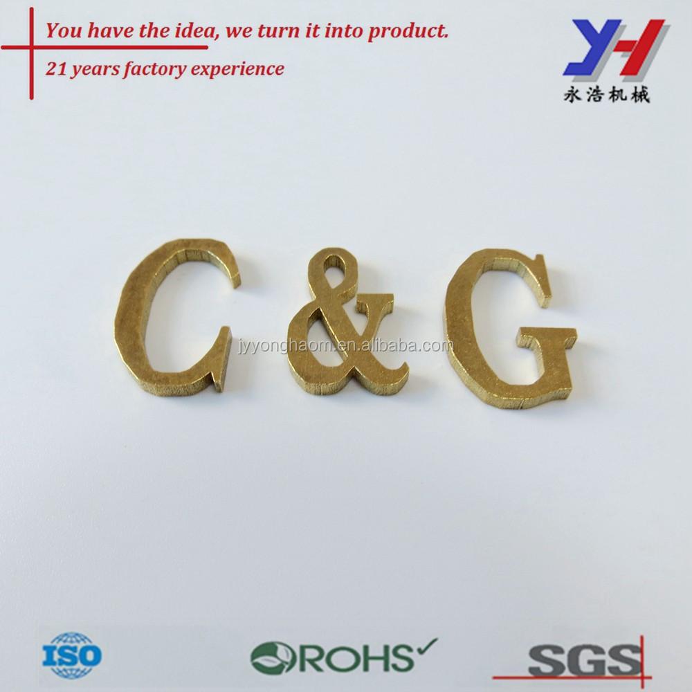 Oem Custom Small Metal Letters For Handbags Block Letter Engraving