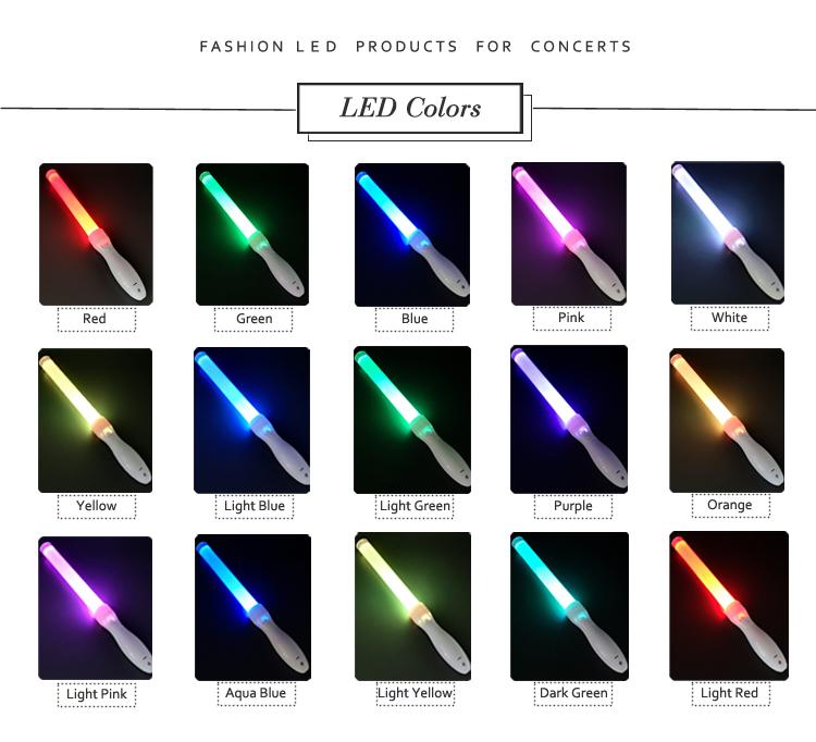 多機能コンサート応援 led 懐中電灯スティック、パーティー rgb グロー点滅アクリル led ライトスティック