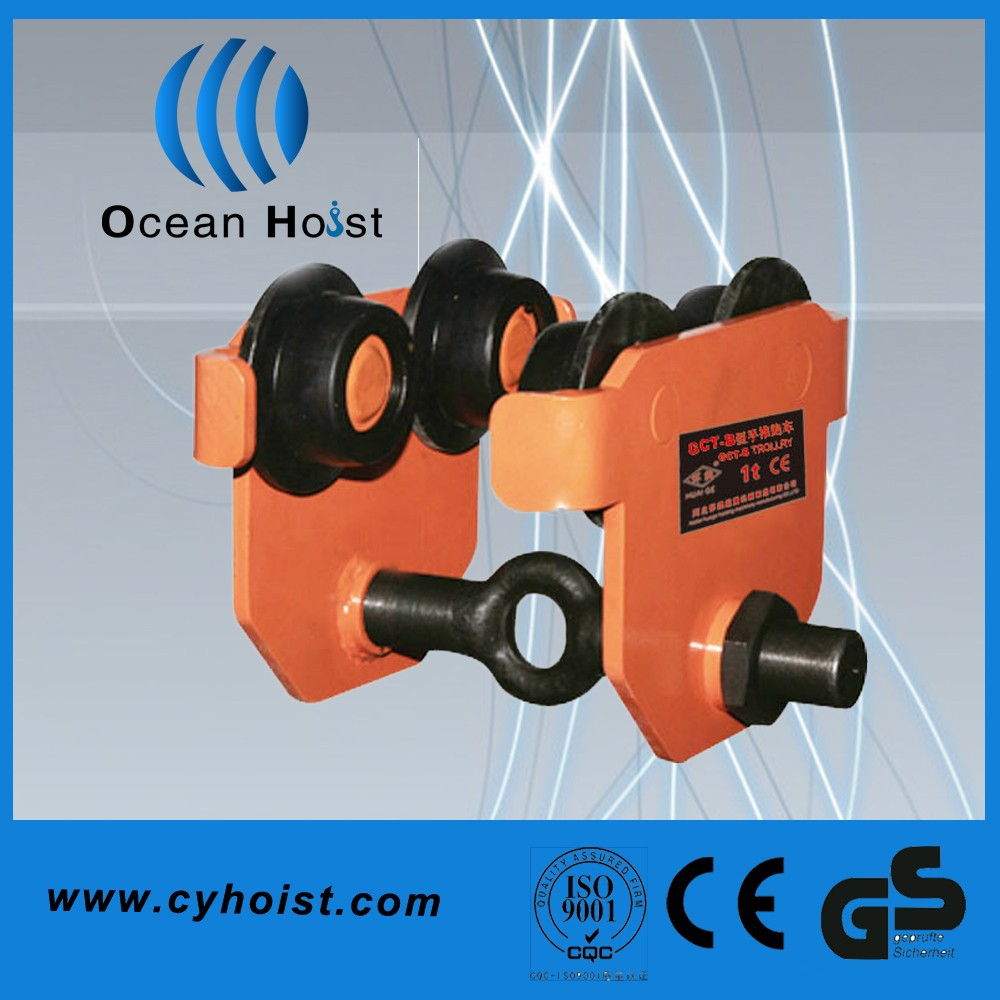 Construction trolley power for crane electric hoists trolley