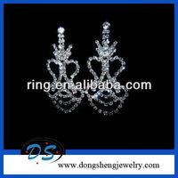 Earrings Rhinestone Vegas Style DRAG Long! Chandelier