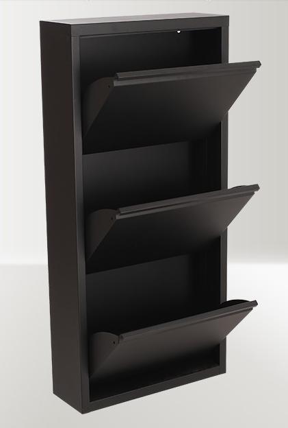 3 Tiers Metal Folding Shoes Rack Shoe Storage Cabinet