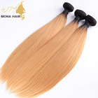 Charming Blonde Straight hair unprocessed wholesale virgin indian hair weave distributors