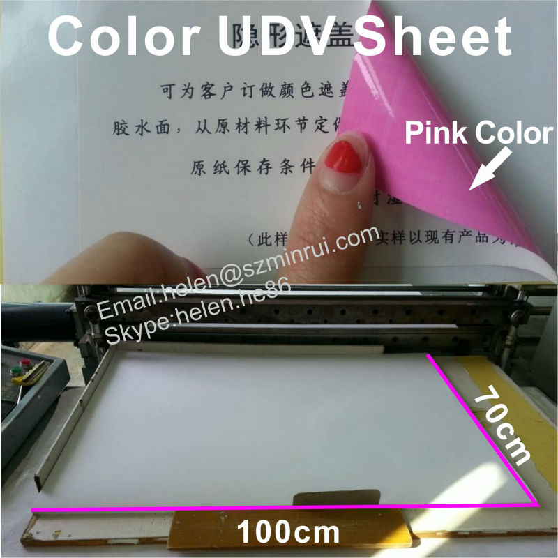 Unique Security Code Cover Ultra Destructible Vinyl (UDV),Security Pink/Red Color Sticker Paper in Sheet