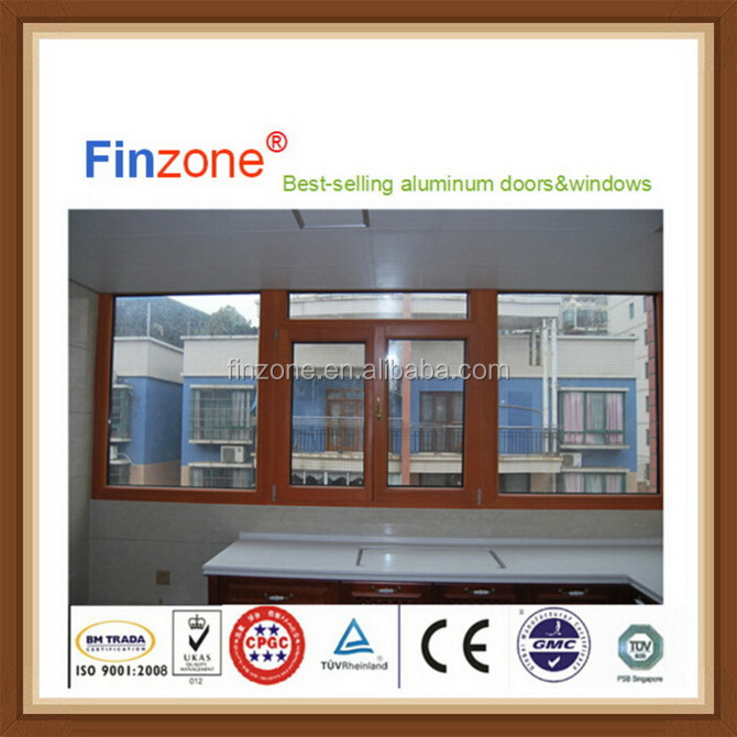 Top level new product aluminum or glass casement blinds window