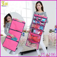 New Arrival 17 Pockets Hanging Storage Bag Clothing Jewelry Storage Organizer Closet Rack Hangers With Hook
