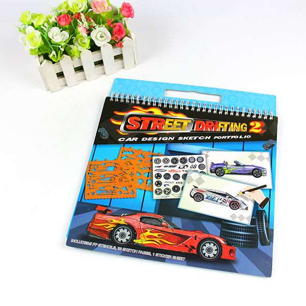 factory price boys car wholesale kids top model coloring books