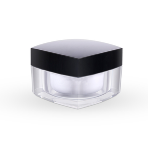 Classic style 5g 10g 30g 50g square plastic container acrylic jar for skin care cream