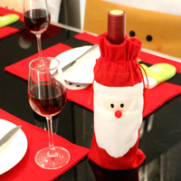 Wholesale Christmas Santa Dinner Table Decorations Red Nonwovens wine bottle cover bags