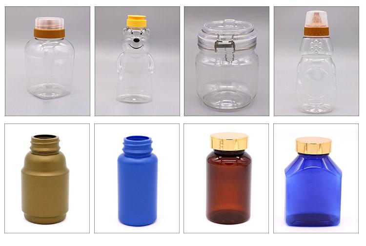 Pet frasco de comprimidos de plástico de segurança para crianças atacado EUA & 38 milímetros CRC cap (tampa à prova de crianças) garrafas de 200 ml