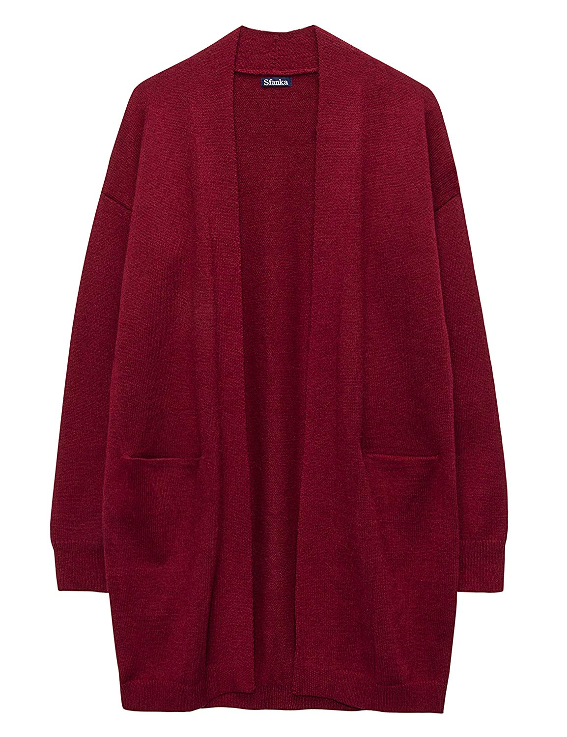 219adaf89cedc0 Get Quotations · Sfanka Women s Cardigan Sweaters Long Sleeve Cable Knit  Open Front Chunky Sweatercoat