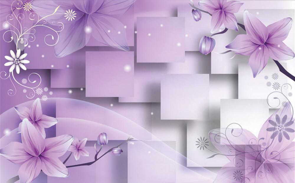 Hsab r008 ceramica piastrelle di disegno del fiore di parete viola