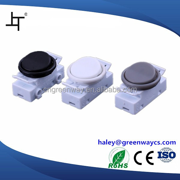 707 Single pole white illuminated rocker switch for wall lamp